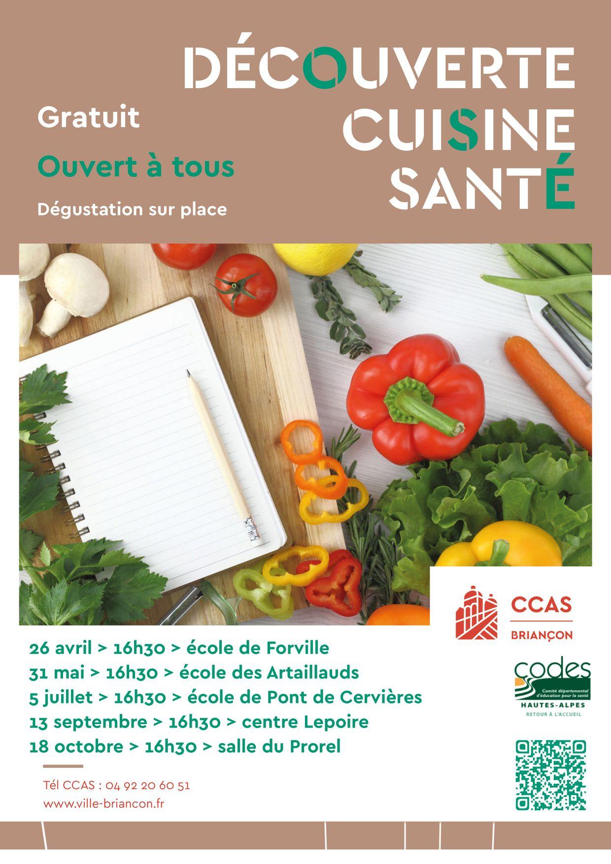Prochain atelier cuisine sant la cuisine dans tous ses for Responsable de cuisine collective